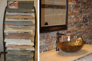 Choose from a variety of stone and tile options
