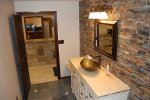 stone and tile bathroom